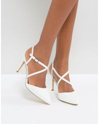 New Look - Cross Front Pointed Heeled Shoes - Lyst
