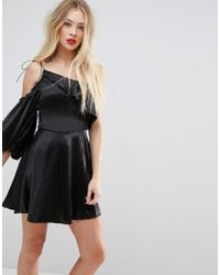 c3c8744b7e212 ASOS Asos Off Shoulder Mini Dress in Black - Lyst