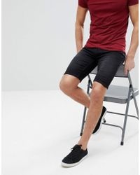 Only & Sons | Slim Fit Denim Shorts In Washed Black | Lyst