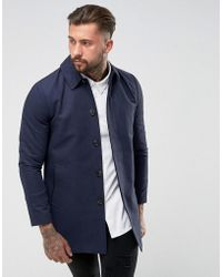 ASOS - Shower Resistant Single Breasted Trench In Navy - Lyst