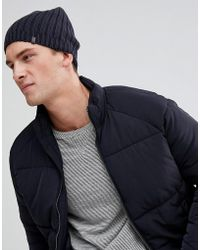 Esprit - Slouchy Beanie In Charcoal - Lyst