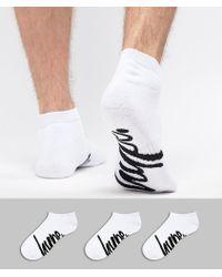 Hype - 3 Pack Ankle Socks In White - Lyst