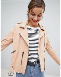 SELECTED - Femme Suede Biker Jacket - Lyst