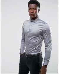 Jack & Jones   Premium Skinny Smart Shirt With Contrast Button   Lyst
