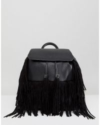 Miss Selfridge - Fringed Backpack - Lyst