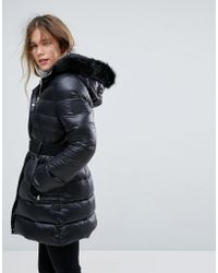 UGG - Belted Down Jacket With Removable Toscana Faux Fur Hood - Lyst