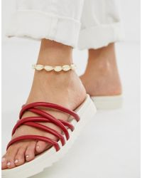 ASOS - Anklet With Faux Shells - Lyst