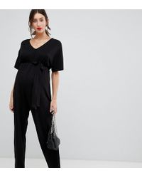 ASOS - Asos Design Maternity Belted Jumpsuit With Kimono Sleeve - Lyst