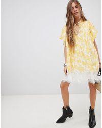 Free People - Marigold Print Tunic Dress - Lyst