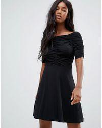 ASOS DESIGN - Asos Mini Tea Dress With Ruching Detail - Lyst