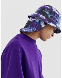 de9da60c ASOS Reversible Bucket Hat in Paisley Print in Blue for Men - Lyst