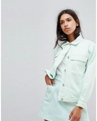 WÅVEN - Karin Oversized Pale Mint Denim Jacket - Lyst