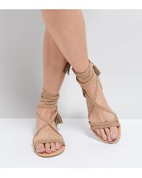 a47fdafcd2 ASOS Asos Ferguson Chunky Sandals in Natural - Lyst