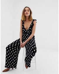 71dcc36ad4d Lyst - Love Bardot Frill Jumpsuit in Black