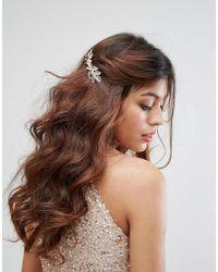 True Decadence - Leaf And Pearl Hair Piece - Lyst