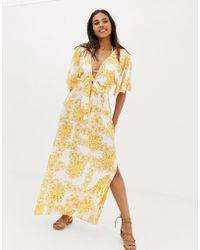 Seafolly - Sunflower Maxi Beach Dress In Yellow - Lyst