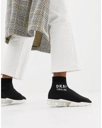 DKNY - Nora Sock Trainer With Clear Heel - Lyst