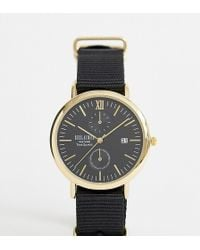 Reclaimed (vintage) - Inspired Black Canvas Watch In Black Exclusive To Asos - Lyst