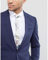 ASOS - Design Wedding Rose Floral Tie - Lyst