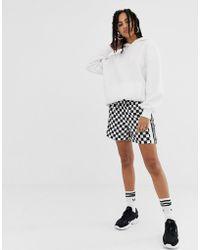 adidas Originals - Checkerboard Short In Black And White - Lyst