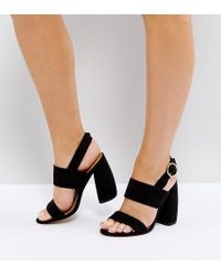 ASOS - Healey Wide Fit Heeled Sandals - Lyst