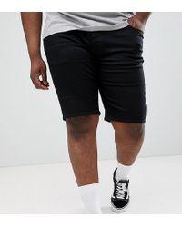 River Island - Big & Tall Slim Denim Shorts In Black Wash - Lyst