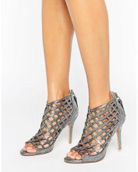 b2f160a10fa Forever Unique - Cynthia Caged Heeled Sandal - Lyst