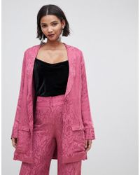 2442b83e24f For Love   Lemons - For Love   Lemons Lara Smoking Jacket In Paisley - Lyst