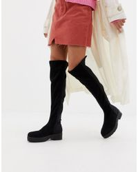 Lost Ink - Shona Chunky Over The Knee Boots - Lyst