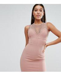 Naanaa - Mini Dress With Corset Detail - Lyst