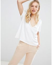 NYTT - Kinsley Deep V-neck T-shirt - Lyst