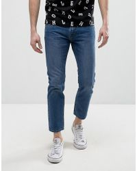 House of Holland - X Lee Zip Powell Slim Jeans Mid Wash - Lyst