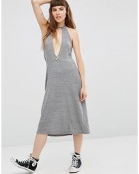 NYTT - Elysia Halter Dress With Plunge Front - Lyst