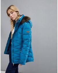 Roxy - Quinn Jacket In Blue - Lyst