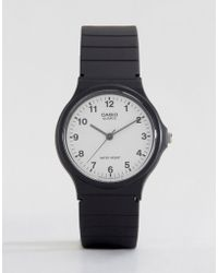G-Shock - Mq-24-7bll Analogue Resin Strap Watch - Lyst