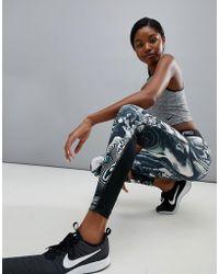 Nike - Nike Pro Training Marble Print Legging - Lyst