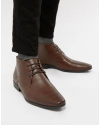 New Look | Smart Chukka Boot In Dark Brown | Lyst