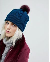 PS by Paul Smith - Ps By Paul Smith Pom Pom Teal Hat - Lyst
