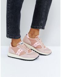Saucony - Jazz O Vintage Trainers In Pink - Lyst