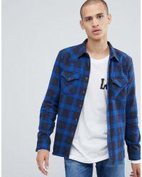 Lee Jeans - Western Shirt Navy - Lyst