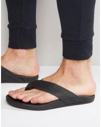 TOMS - Semana Leather Flip Flops - Lyst