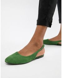 Vagabond - Ayden Suede Pointed Slingback Shoes - Lyst