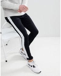Liquor N Poker - Super Skinny Jeans With Painted Side Stripe - Lyst