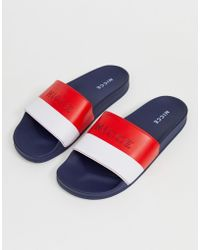 Nicce London - Slider In Navy With Panel Logo - Lyst
