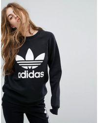 Adidas Originali Originali Blu Pastello Mimetico Impronta Felpa Blu Originali Lyst aab7db