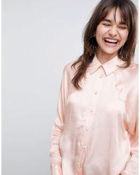 ASOS - Satin Western Shirt - Lyst