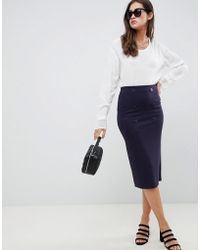 ASOS - Double Breasted Ponte Pencil Skirt - Lyst