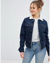 Pepe Jeans - Borg Collar Denim Jacket - Lyst