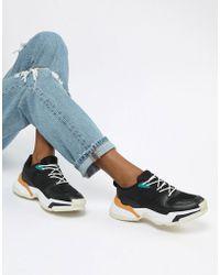 Pull&Bear - Chunky Color Block Sneaker In Black - Lyst