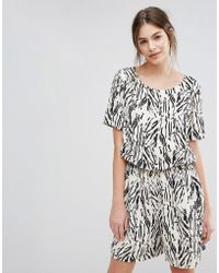 SELECTED | Printed Maxi Playsuit | Lyst
